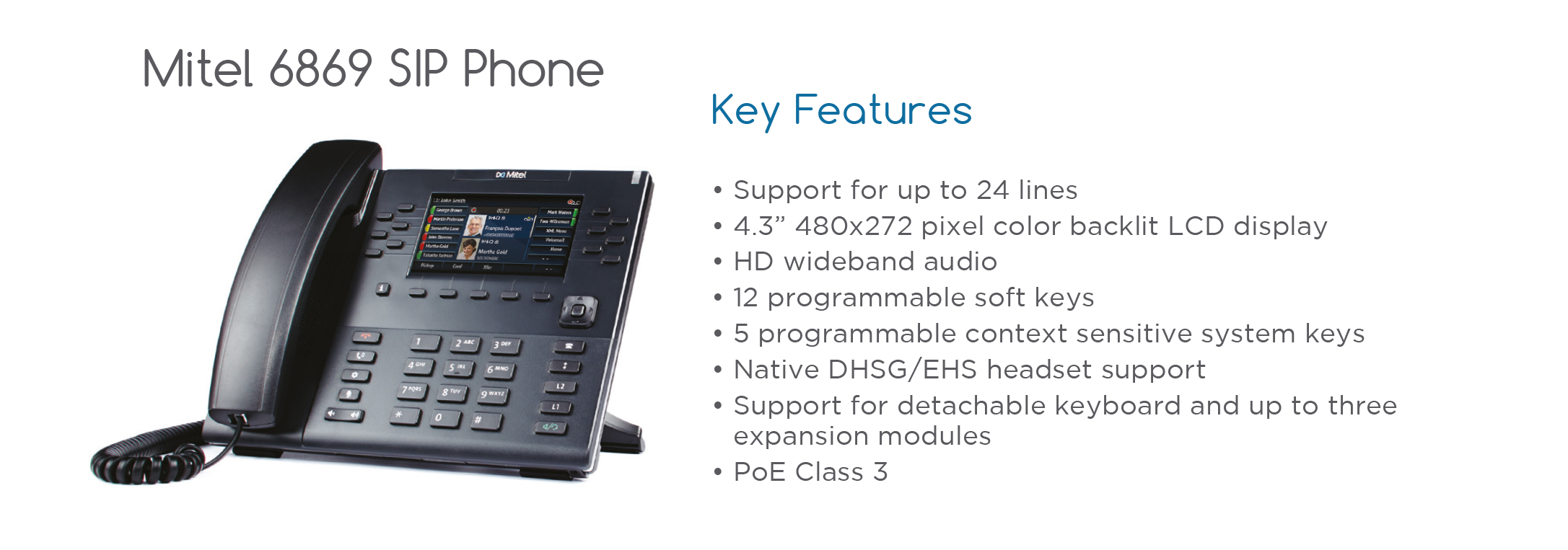 Mitel 5320 Specs: Leading Communications Design Inc Mitel 5320e 5320